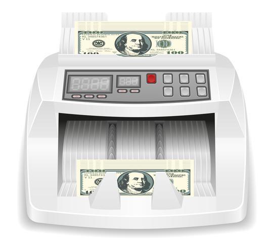 ilustração em vetor estoque contador dinheiro