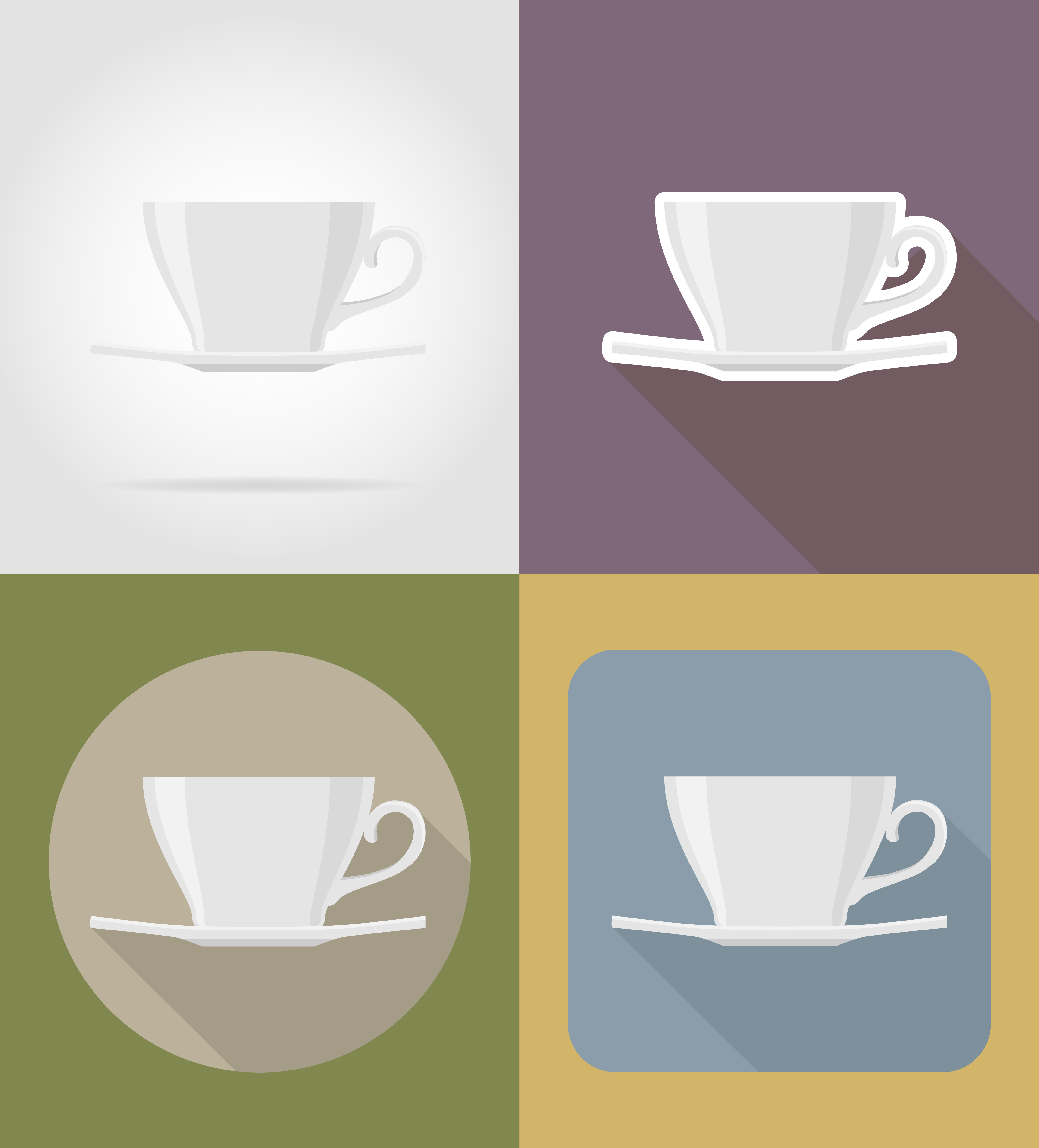 Cup Saucer Objects And Equipment For The Food Vector Illustration Download Free Vectors Clipart Graphics Vector Art