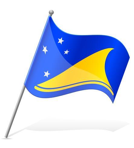 Flagge der Tokelauna-Vektorillustration
