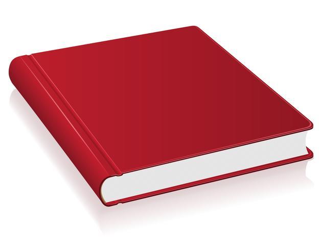 röd bok vektor illustration