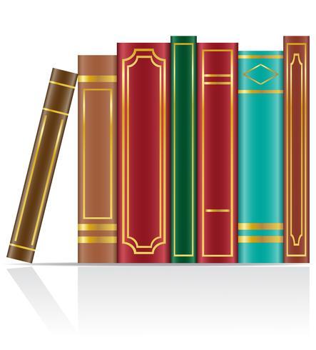 ilustración vectorial de libros vector