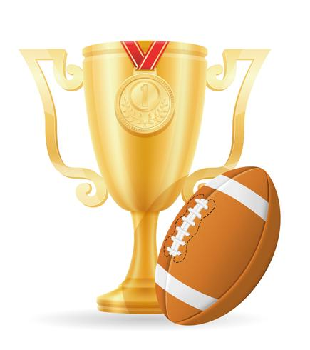 illustrazione vettoriale di calcio oro vincitore della Coppa di calcio