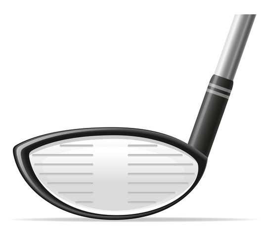 Ilustración de vector de club de golf