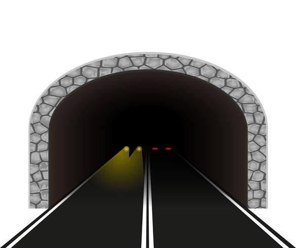 automobile tunnel vector illustration