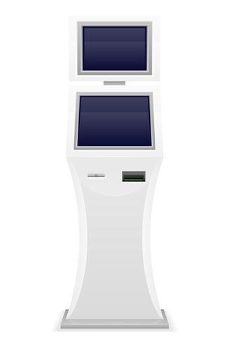 Terminal für den Empfang von Barzahlungen Vektor-Illustration