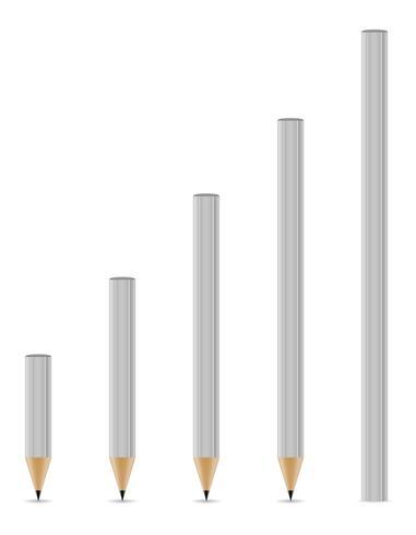 lápices afilados ilustración vectorial