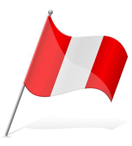 Bandera de Perú ilustración vectorial