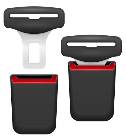 ceinture de sécurité pour la sécurité en cas d'illustration vectorielle accident