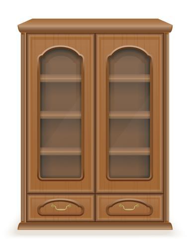 mobília do armário feita de ilustração vetorial de madeira