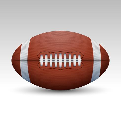 American Football Ball Vector Realistic Illustration