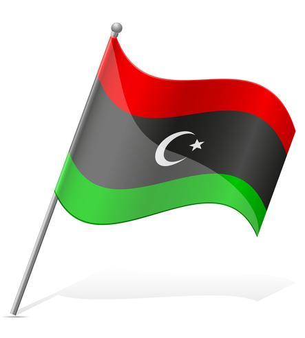 Bandera de Libia ilustración vectorial