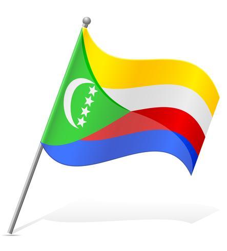 bandiera delle Comore illustrazione vettoriale