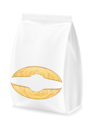 pasta in packaging vector illustration