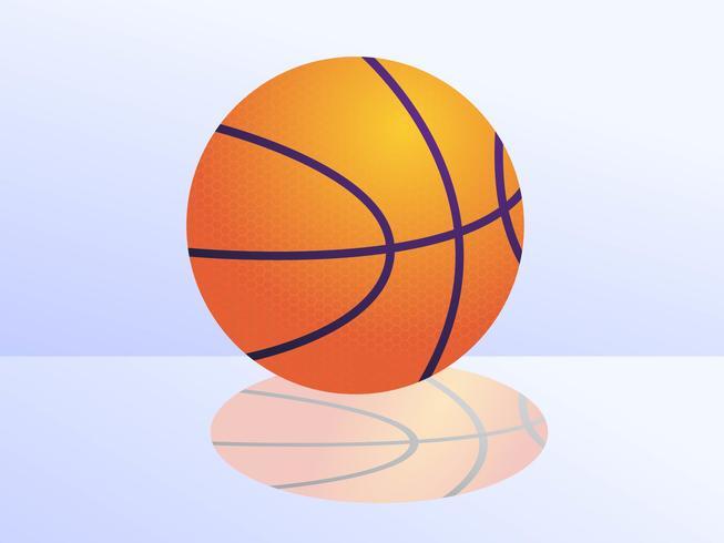 Realistic Basketball vector
