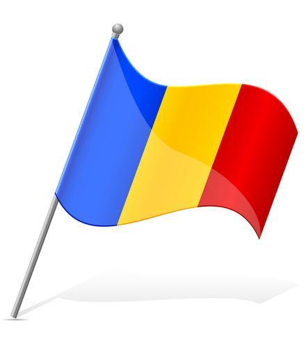 Flagga av Andorra vektor illustration