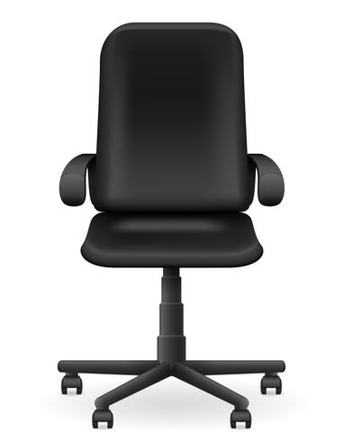 black office armchair furniture vector illustration