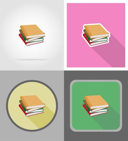libro plano iconos vector illustration