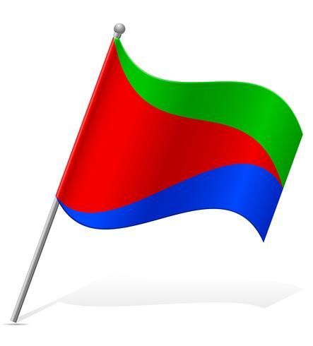 flag of Eritrea vector illustration
