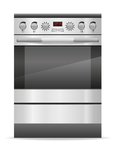 fornuis voor keuken vectorillustratie