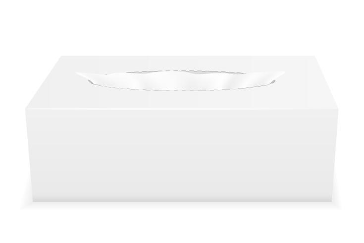 illustration vectorielle de tissu blanc boîte