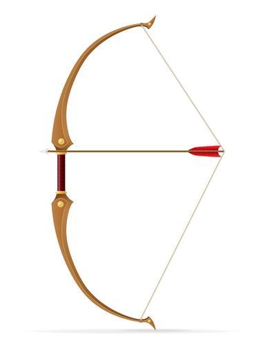 battle bow medieval stock vector illustration