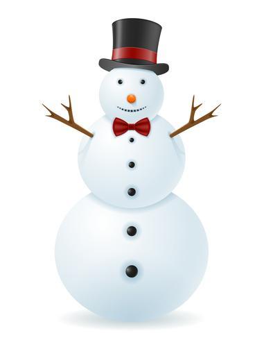 Ilustración de vector de muñeco de nieve