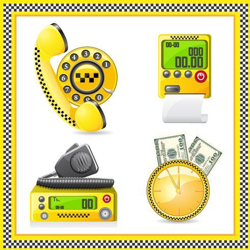 pictogrammen zijn symbolen van taxi vector
