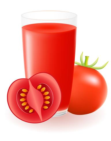 Ilustración de vector de jugo de tomate