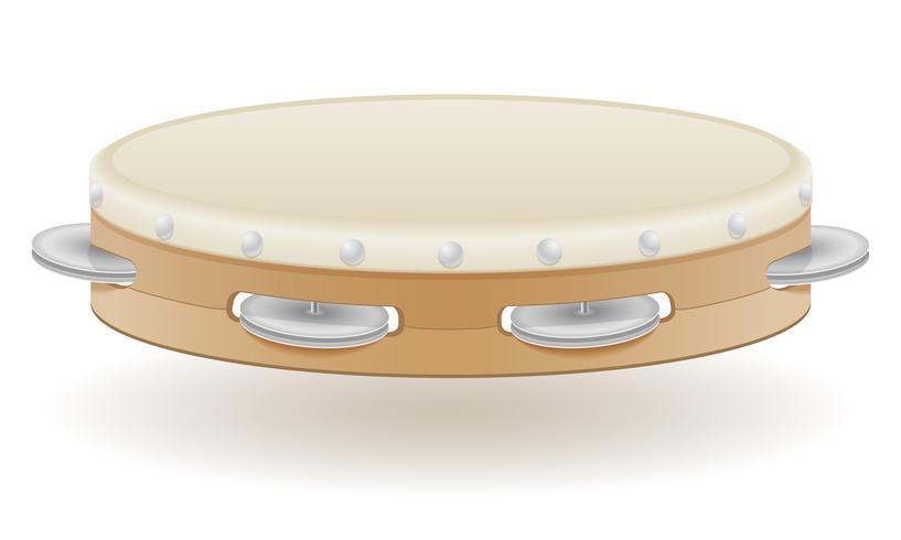 instrumentos musicais de tambourine ilustração vetorial de estoque