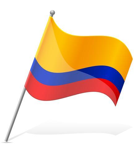 Flagge der Ecuador-Vektorillustration