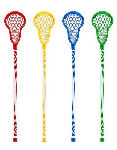 lacrosse sticks vector illustration