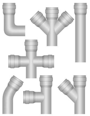 industry plastic pipes vector illustration
