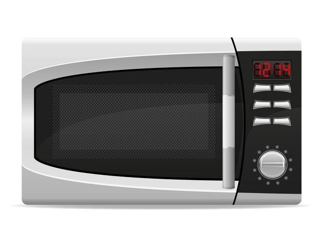 forno a microonde con illustrazione vettoriale controllata elettronicamente