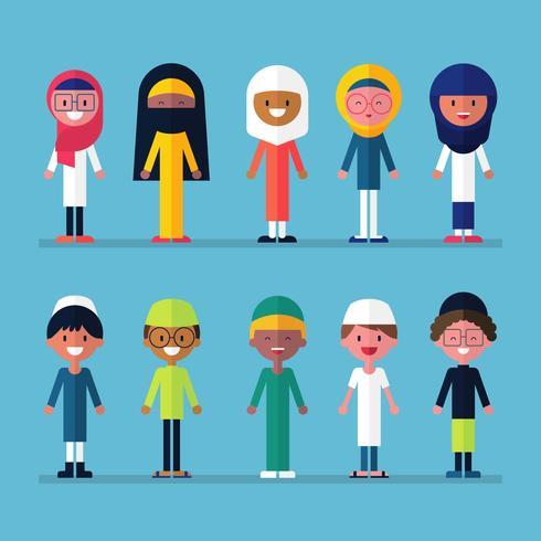 Crianças muçulmanas dos desenhos animados