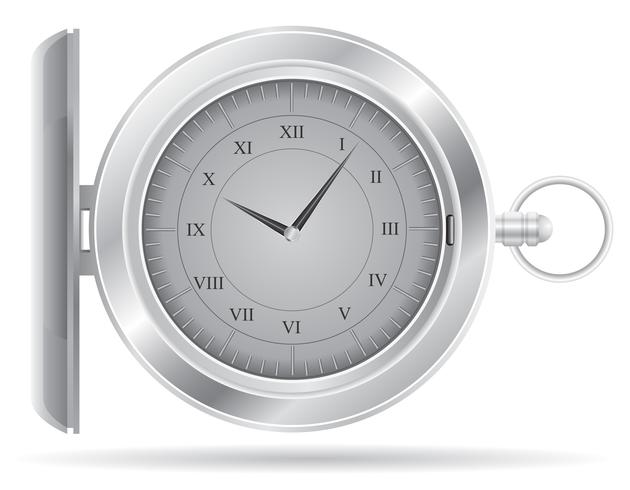 illustration vectorielle de montre de poche