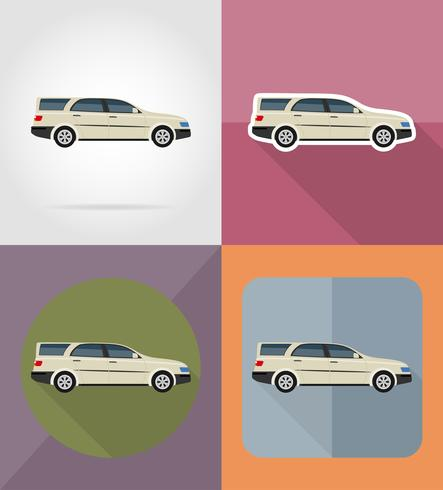auto vervoer plat pictogrammen vector illustratie