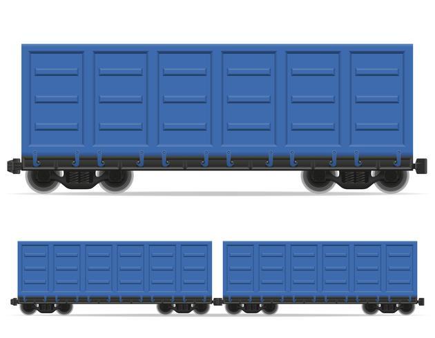 railway carriage train vector illustration