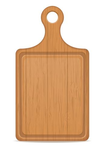 illustrazione di vettore del tagliere di legno