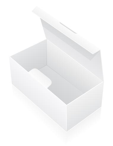 Ilustración de vector de caja de embalaje