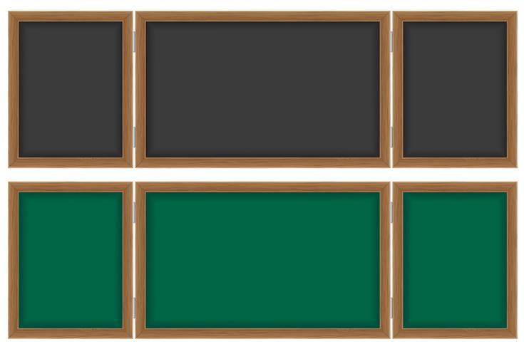 wooden school board for writing chalk vector illustration
