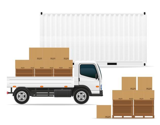 ilustração em vetor conceito transporte frete