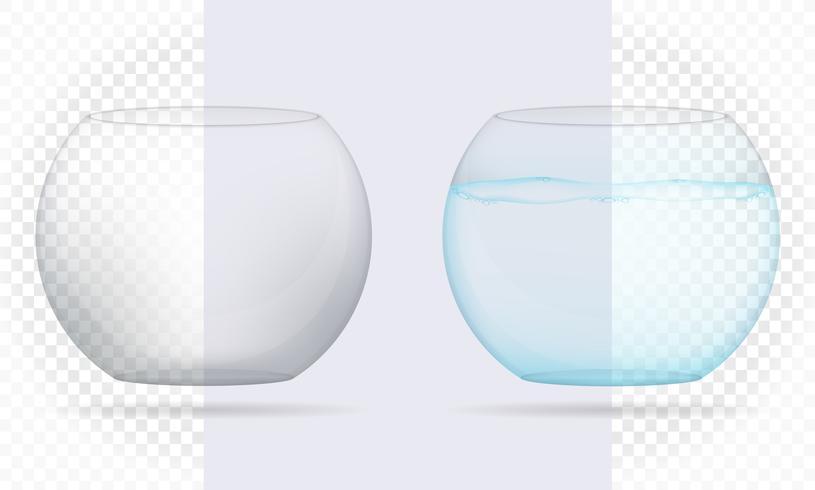 Ilustración de vector de acuario transparente