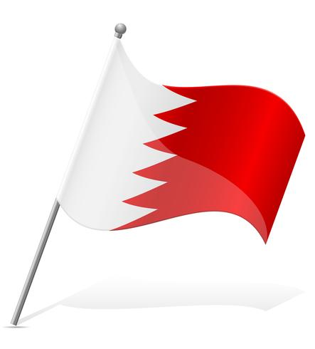 flag of Bahrain vector illustration