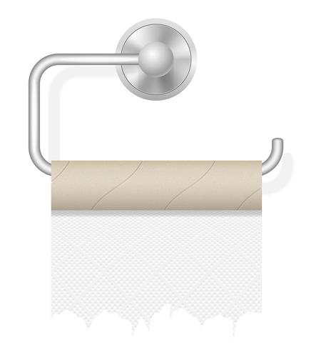 piece toilet paper on holder vector illustration