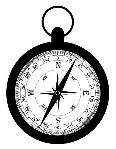 kompas oude retro vintage pictogram stock vectorillustratie
