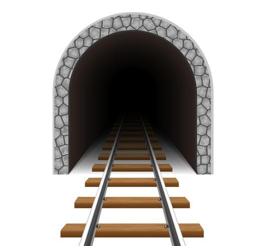 Ilustración de vector de túnel ferroviario