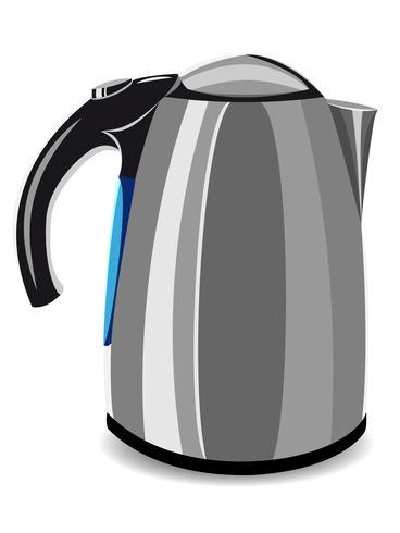 electric kettle vector illustration