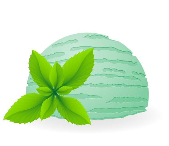 ice cream ball vector illustration