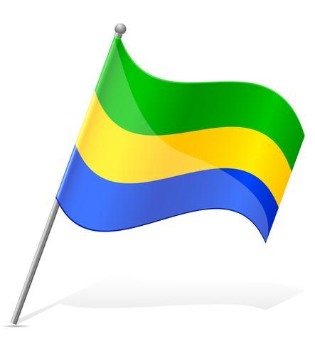 Bandera de ilustración vectorial de Gabón