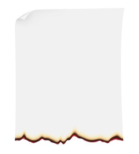 bruciante illustrazione vettoriale di carta